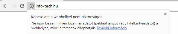 Nem biztonságos URL