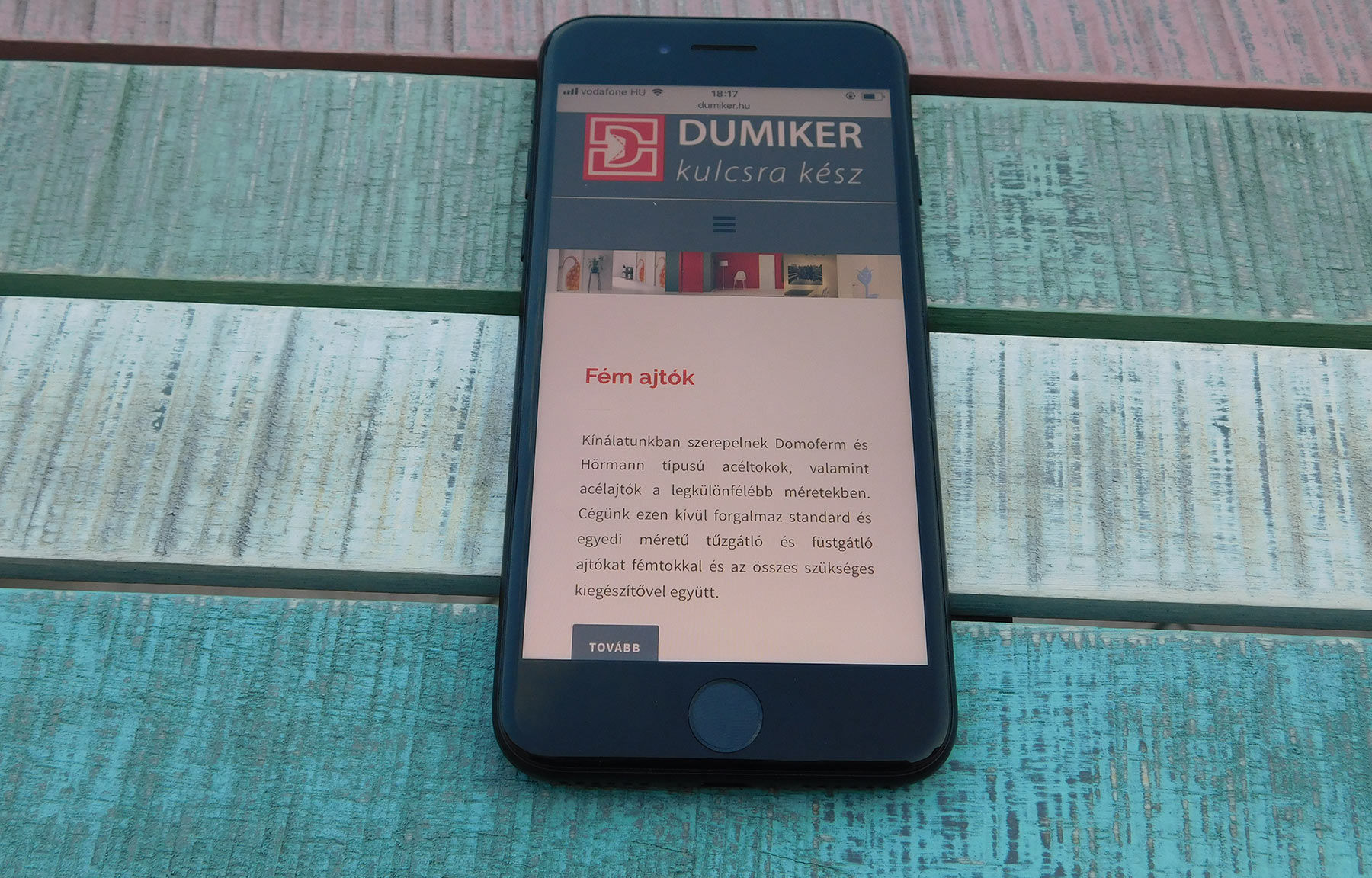 dumiker.hu céges weboldal fejlesztés