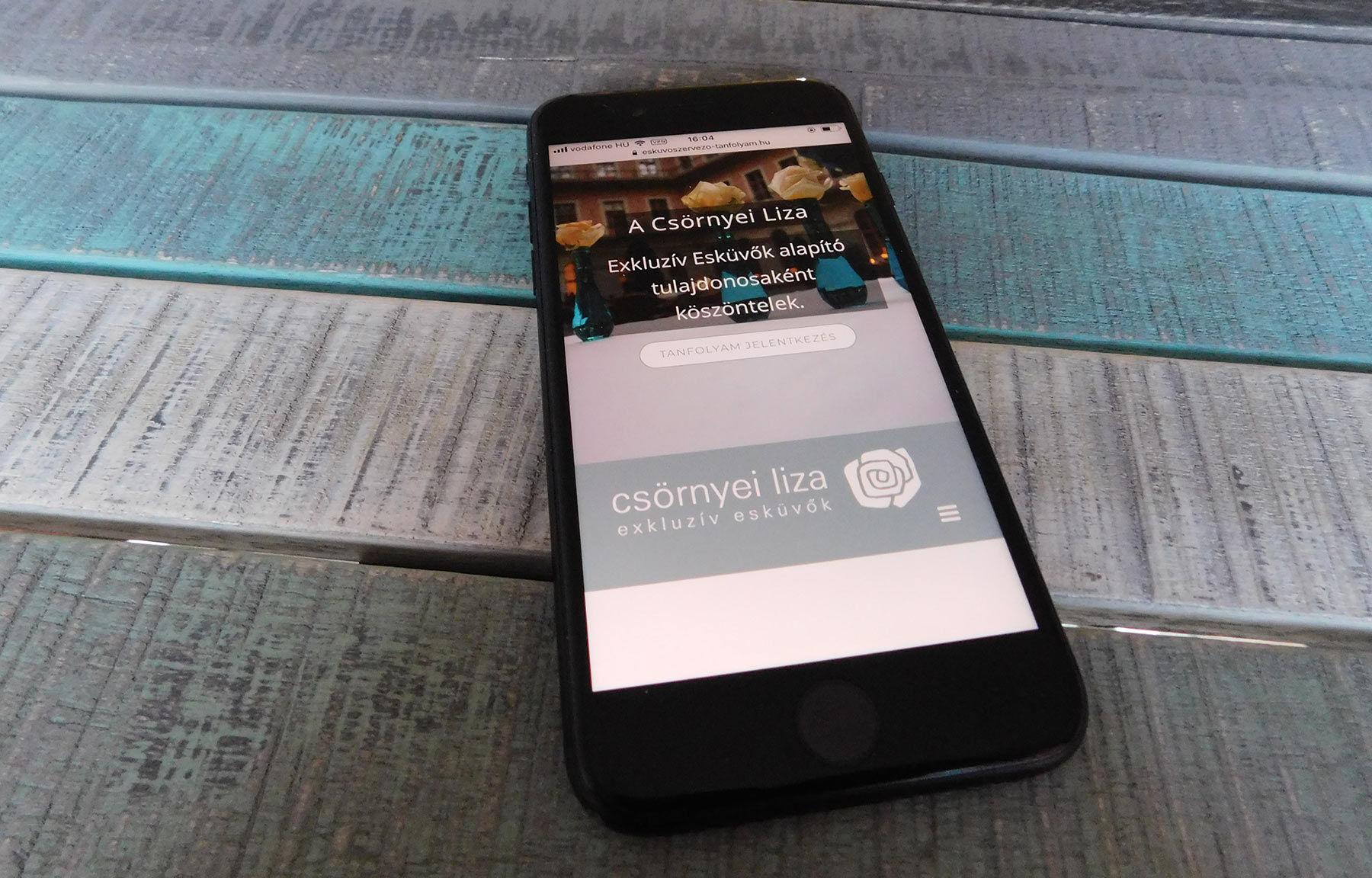 eskuvoszervezo-tanfolyam.hu céges one page weboldal építés