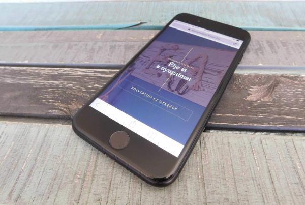 alsóörs apartman landing page webfejlesztés