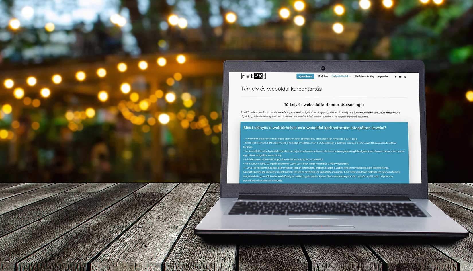 Weboldal fejlesztés, karbantartás és hoszting integrációja